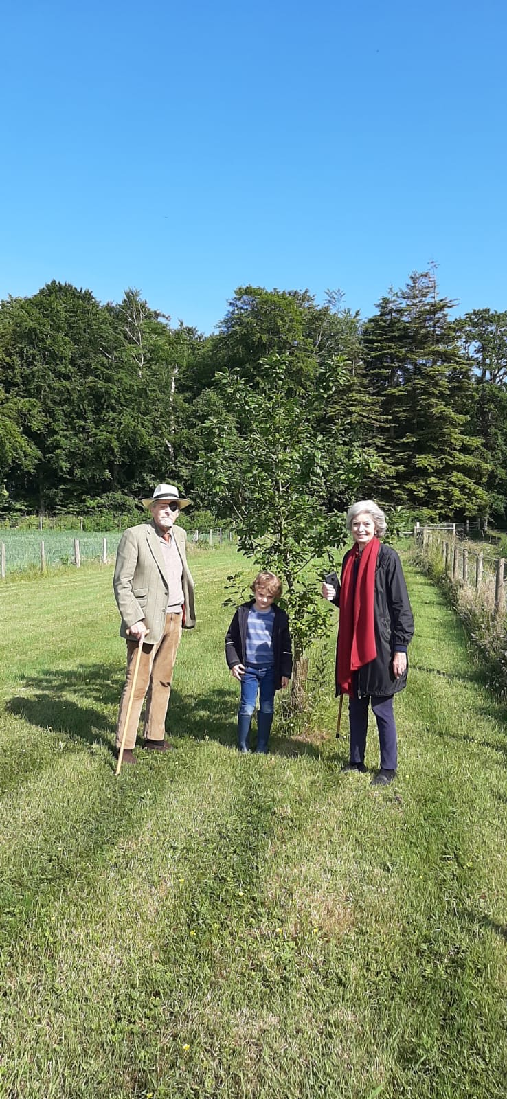 Peter Lauritzen, Lady Rose and their grandson on the Mount Stewart estates